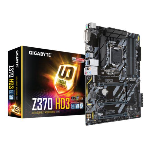 مادربرد گیگابایت Gigabyte Z370 HD3 + پردازنده اینتل Intel Core i3 9100f
