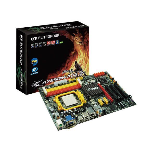 مادربرد الایت Elite ECS A785GM-AD3 + پردازنده ایامدی AMD X2 250