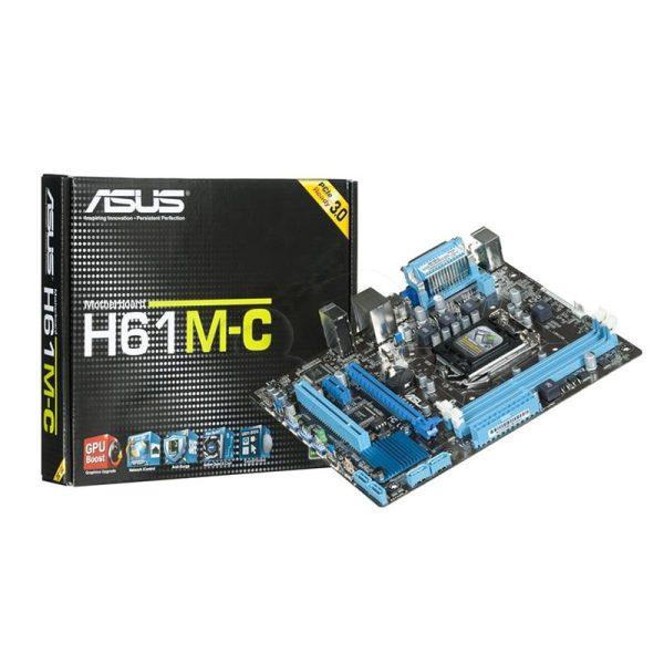 مادربرد ایسوس ASUS H61M-C + پردازنده Intel Core i5 2400