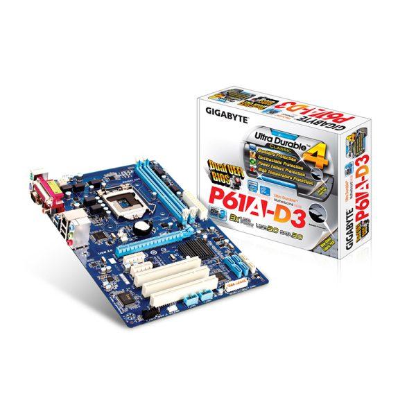مادربرد گیگابایت GIGABYTE GA-P61A-D3 + پردازنده اینتل Intel Core i7 3770