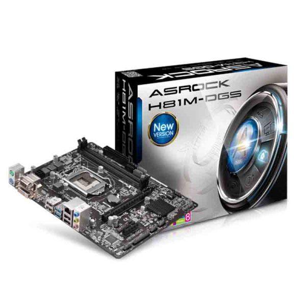 باندل ASROCK H81M-DGS + Intel Core i3 4130