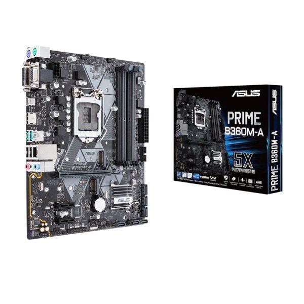 باندل مادربرد ASUS Prime B360M-A + Core i7 8700